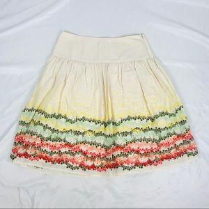 J. Jill a-line skirt polka dot knee length cotton